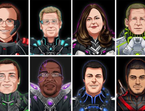 MCC Super Hero Illustrations