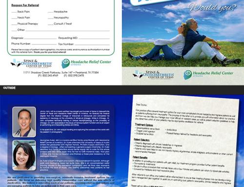 Spine & Osteoarthritis Center of Texas Bi-Fold Brochure