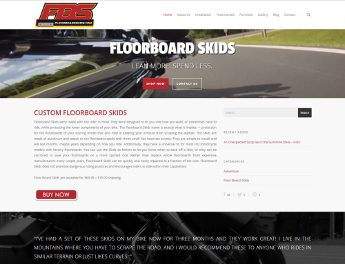 Floorboard Skids Website Design