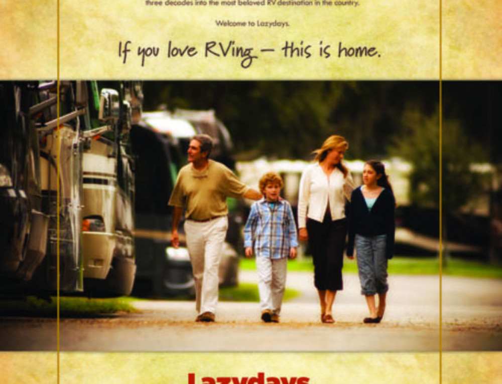 Lazydays RV's Magazine Ad