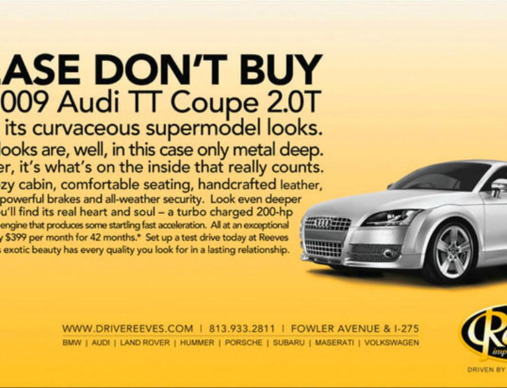 Reeve's Import Motorcars Newspaper Ad
