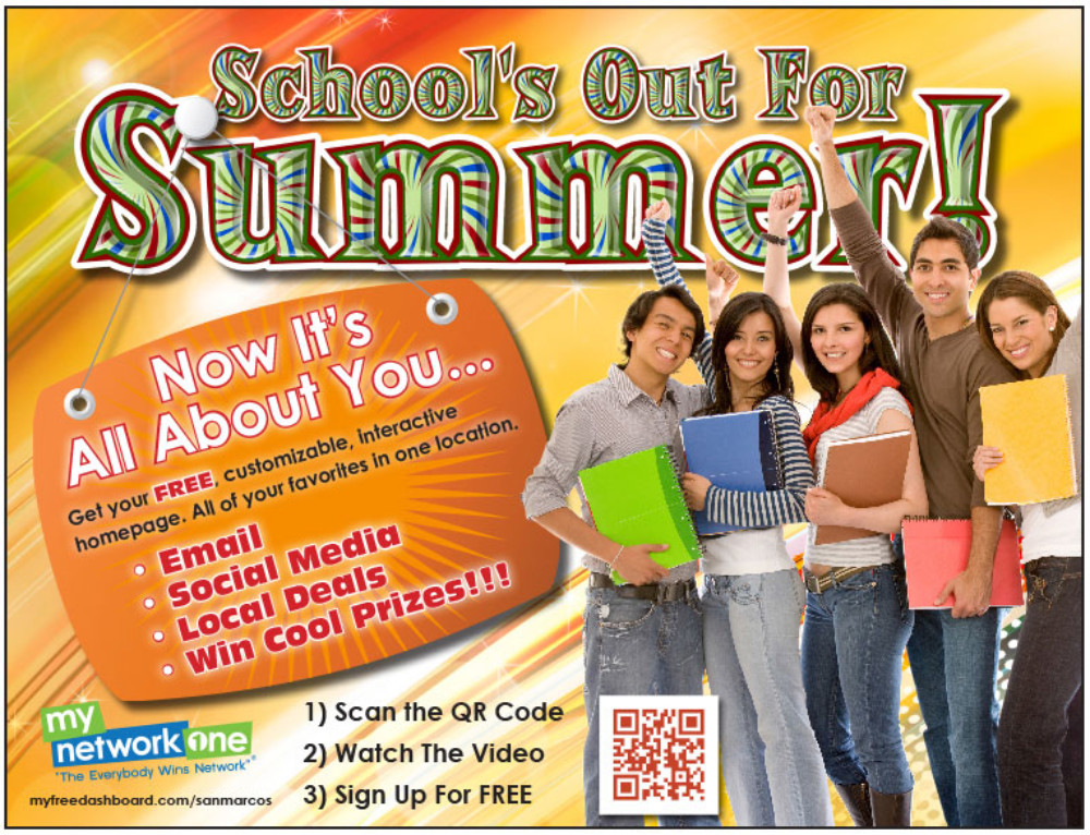 MyNetworkOne School's Out For Summer Print Ad
