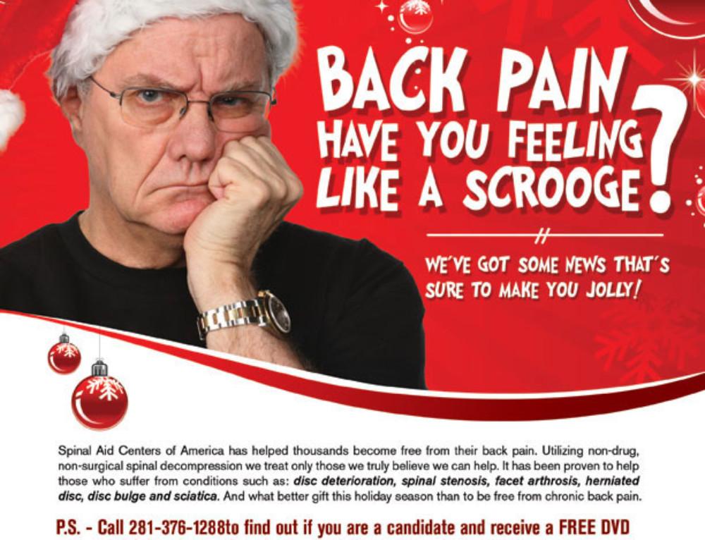 Back Pain Have You Feeling Like A Scrooge?