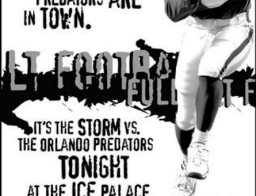 Tampa Bay Storm vs. The Orlando Predators Newspaper Ad