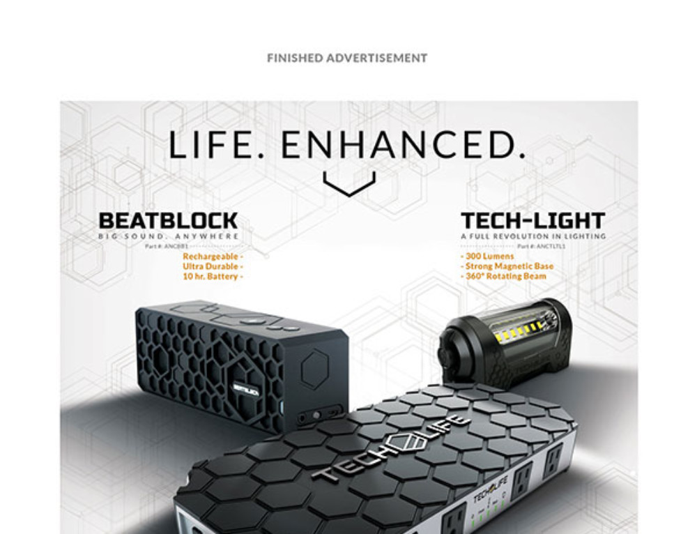 Tech Life Print Ad Design