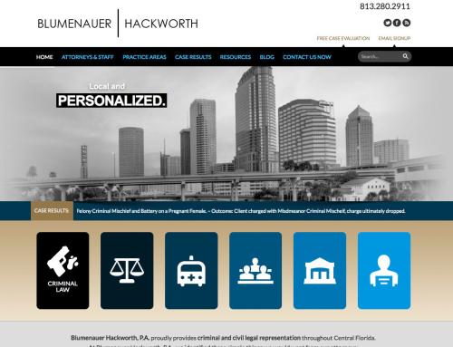 Blumenauer | Hackworth P.A. Website Design