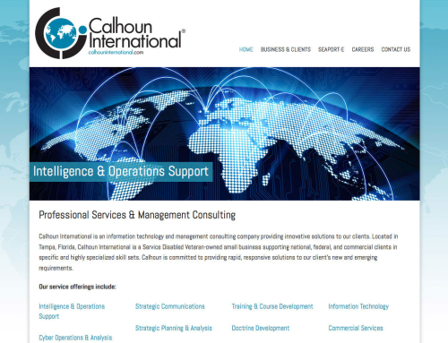 Calhoun International Website Design