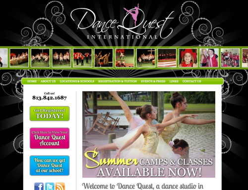 Dance Quest International Website Design