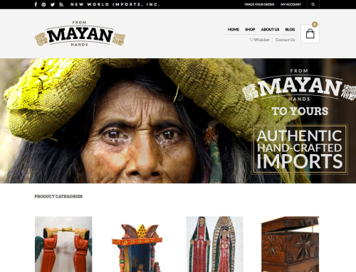 New World Imports Website Design