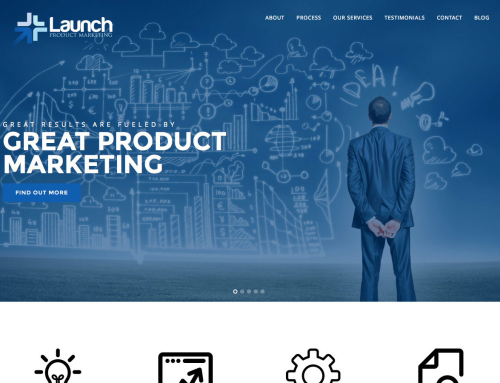 Launch Product Marketing Website Design