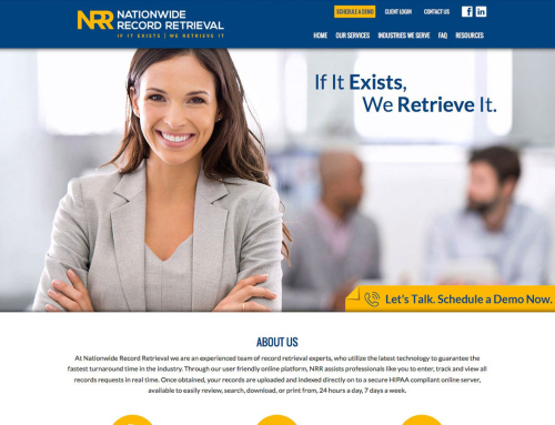 Nationwide Record Retrieval Website Design