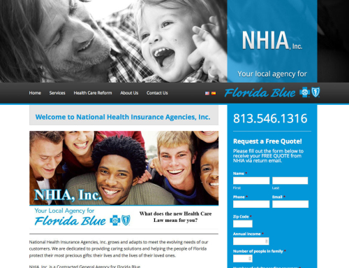 National Health Insurance Agencies Website Design