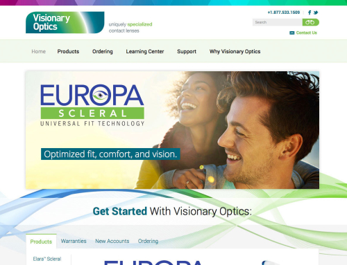 Visionary Optics Website Design